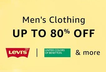men's clothing discount on amazon