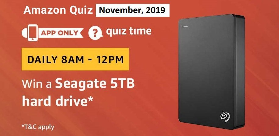 amazon seagate quiz answers to win seagate 5tb hard drive