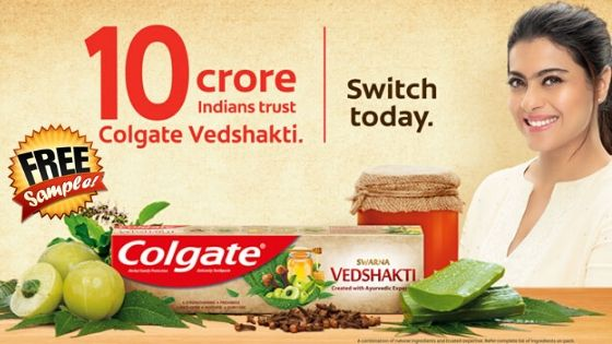Free sample of Colgate Vedshakti Toothpaste