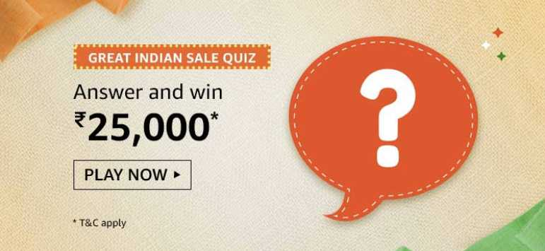 Amazon Great Indian Sale Quiz Answers Play Win 25 000 Pay Balance