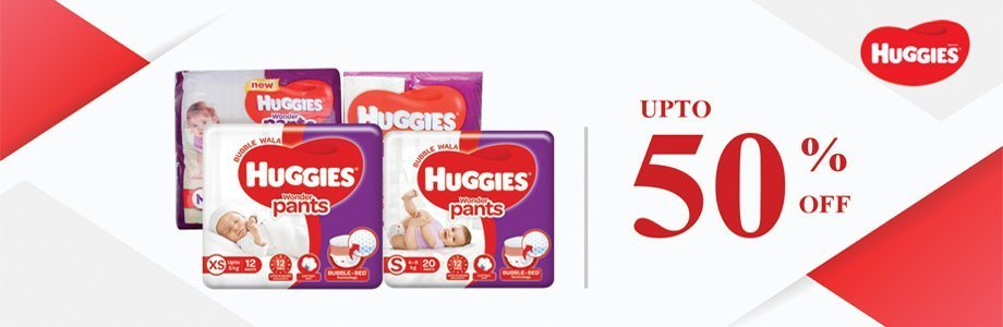 Upto 50% Discount Offer On Huggies Pants