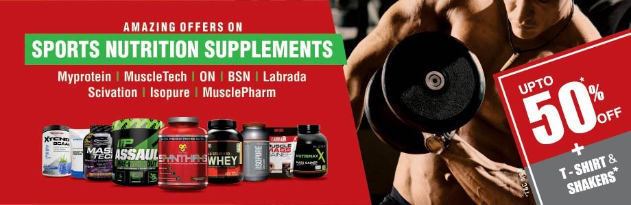 Upto 50% Off On Sports Nutrition Supplements