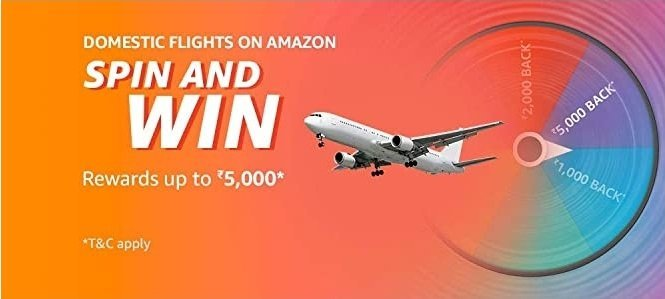 Amazon Domestic Flights Spin and Win Quiz Answer - Play & Win Exciting Rewards