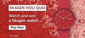 Amazon Skagen Holi Quiz Answers - Play & Win Skagen Watch