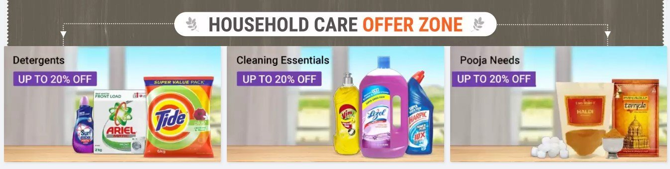 Flipkart Supermart Household Care Offer Zone For 1 Rs. Sale Offer
