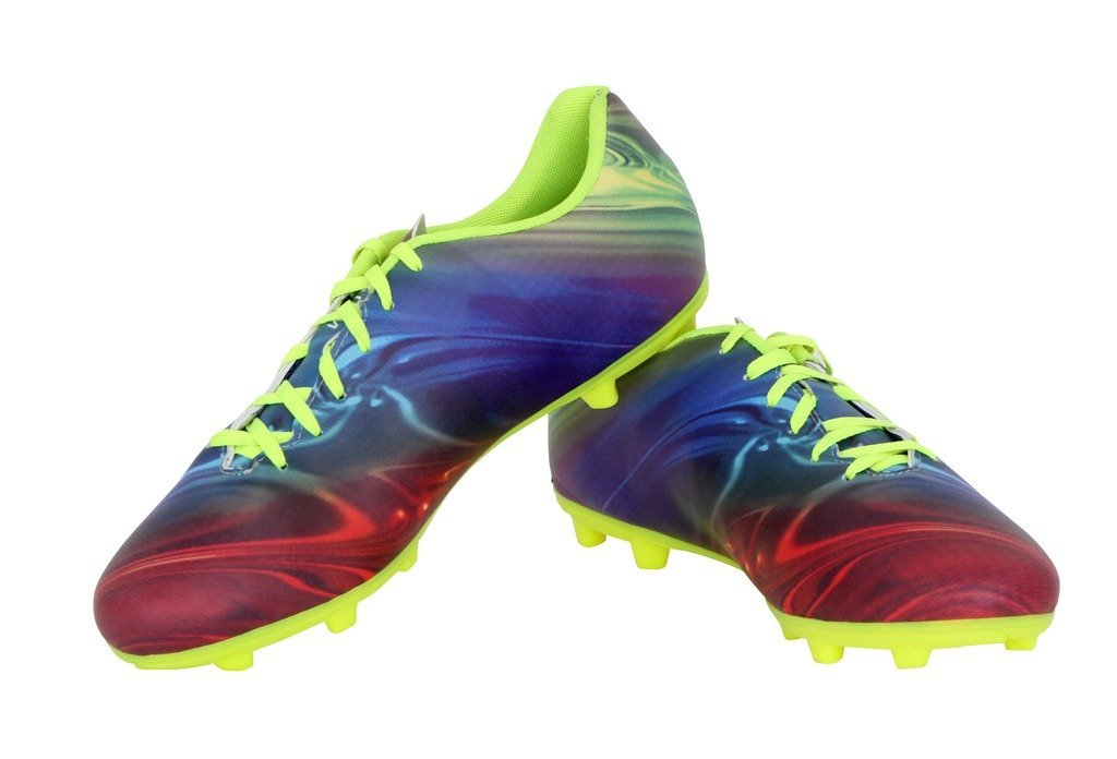 Nivia Men's Blue and Green Football Boots
