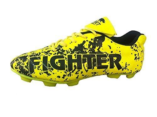 Port Unisex Spectra Black PU Football Shoes