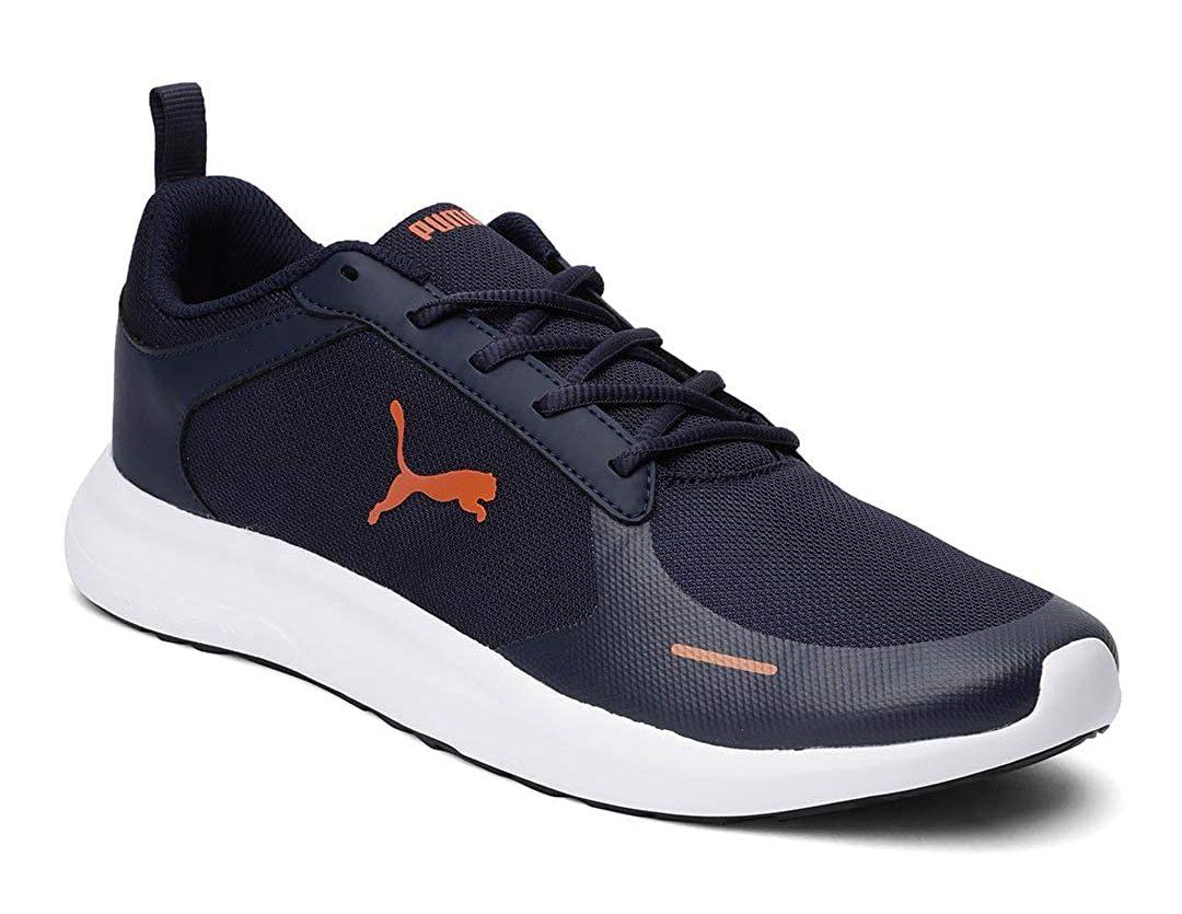 Puma Men's Jaunt Idp Running Shoes (Colour- Peacoat-Jaffa Orange)